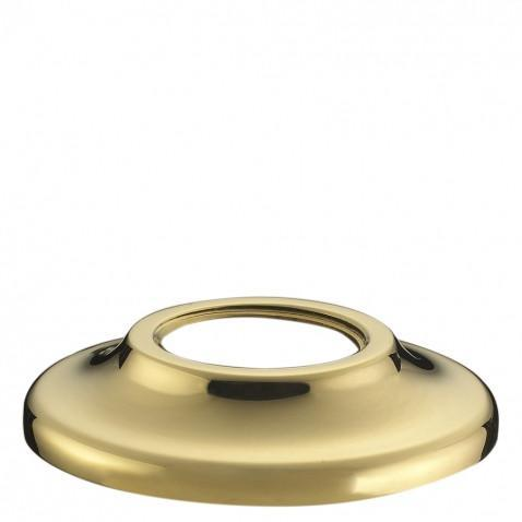 Waterworks Etoile Gooseneck Concealed Tub Filler in Unlacquered Brass