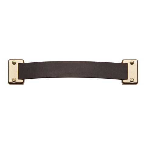 "Wilshire 9"" Chocolate Leather Pull in Nickel"