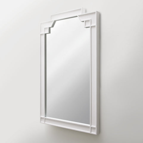 Waterworks Worth Wood Wall Mounted Mirror in White