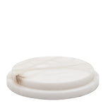 Waterworks Apothecary Large Round Tray in Alabaster