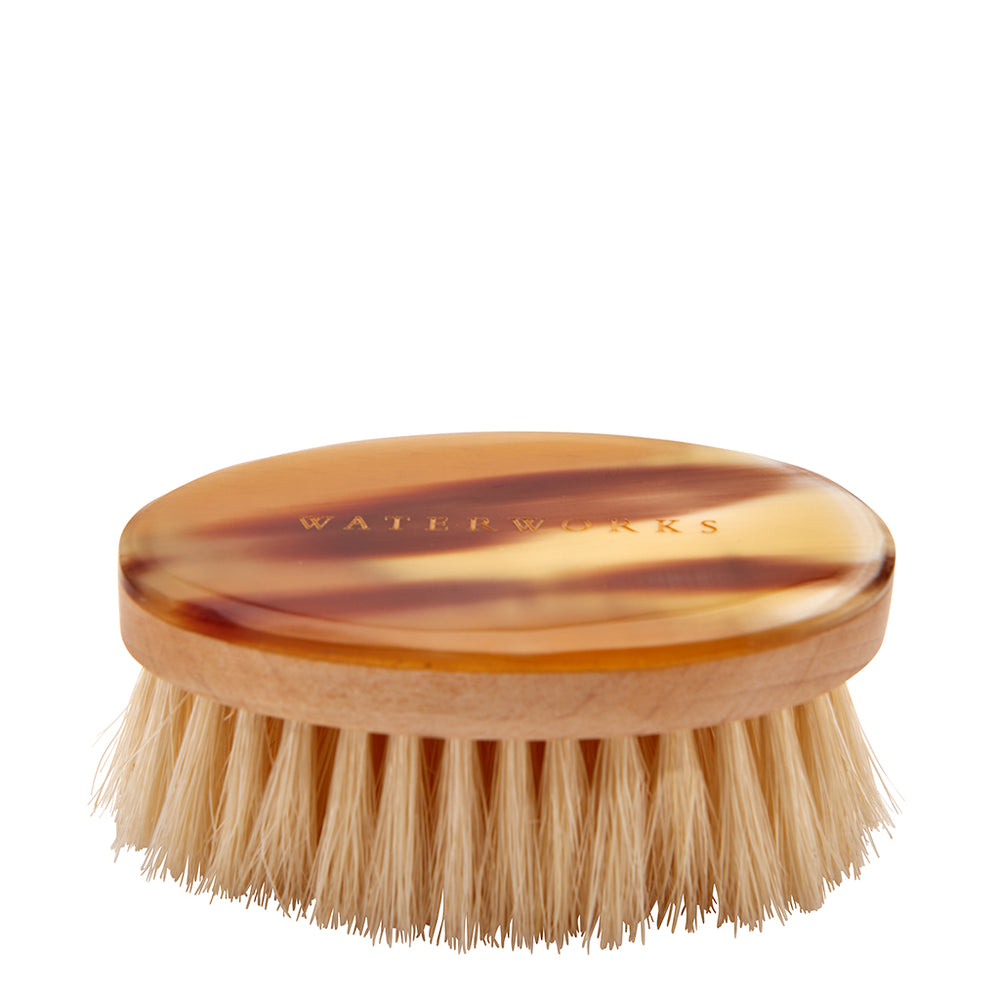 Personal Care Facial Brush in Light Natural Horn