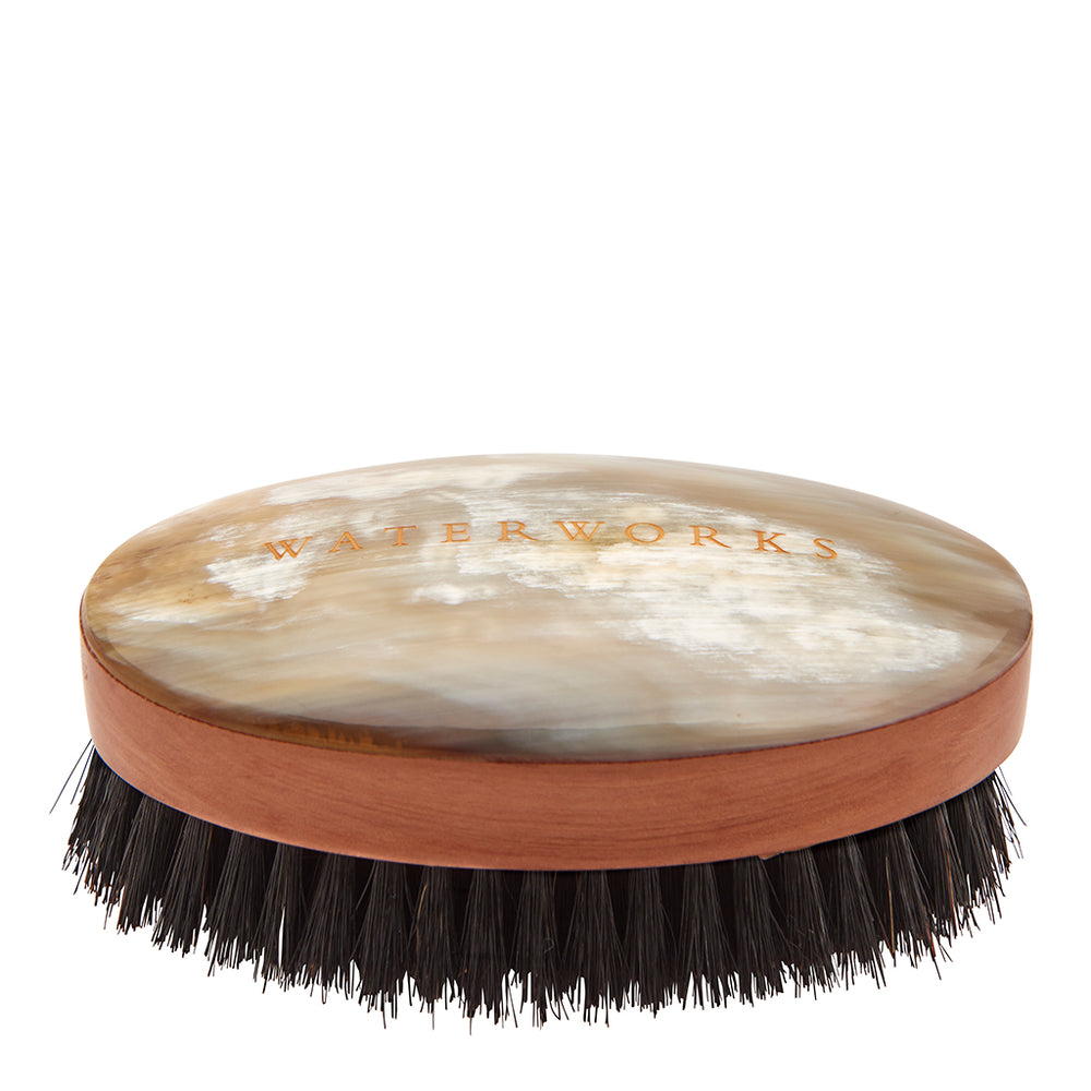 Waterworks Personal Care Men's Hairbrush in Light Natural Horn