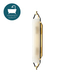 Waterworks Addair Wall Mounted Double Sconce in Unlacquered Brass
