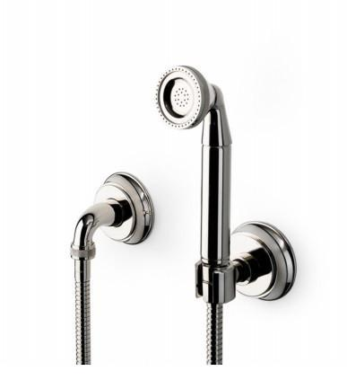 Waterworks Aero Retro Handshower on Hook in Antique Brass