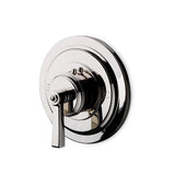 Waterworks Aero Thermostatic Control Valve Trim with Metal Lever Handle in Burnished Nickel