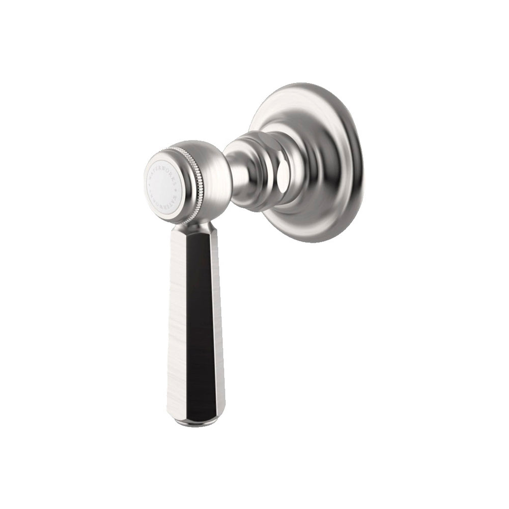 Waterworks Astoria Volume Control Valve Trim with Metal Lever Handle in Matte Nickel