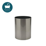 Waterworks Luster Round Waste Can in Matte Nickel