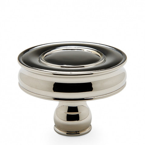 "Waterworks Boulevard 1 3/4"" Knob in Brushed Nickel"