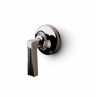 Waterworks Boulevard Volume Control Valve Trim with Metal Lever Handle in Matte Nickel