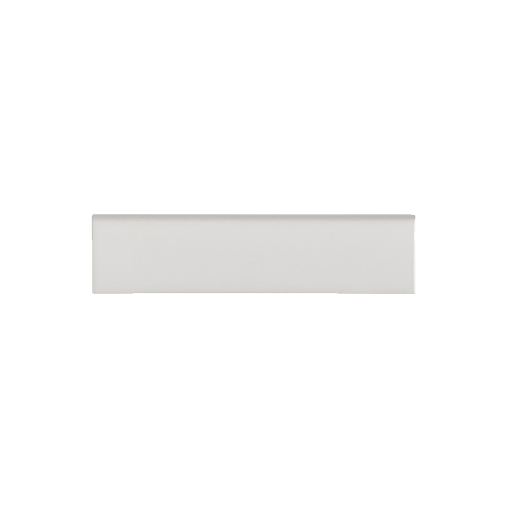 Waterworks Cottage Field Tile 3 x 12 Bullnose Single (Long) in Dover White Glossy Solid