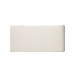 "Waterworks Architectonics Handmade Field Tile 3"" x 6"" Bullnose Short Single in Pumice Glossy Crackle"