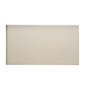 "Waterworks Architectonics Handmade Field Tile 4 1/4"" x 8"" Bullnose Short Single in Pumice Glossy Crackle"