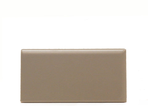 Waterworks Campus Field Tile 3 x 6 Bullnose Corner (Right) in Taupe Matte