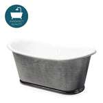 Waterworks Candide Freestanding Oval Cast Iron Bathtub in Burnished