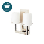 Waterworks Catia Wall Mounted Double Arm Sconce in Nickel