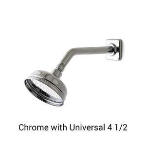 Waterworks Ludlow Wall Mounted Shower Arm and Flange in Chrome