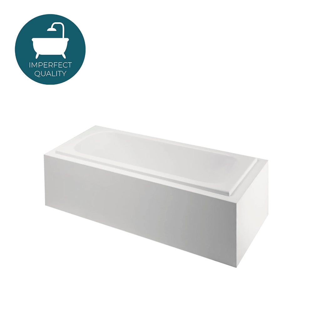 "Waterworks Classic 60"" x 31"" x 20"" Rectangular Bathtub with End Drain in White"