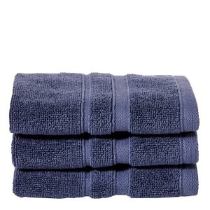 Perennial Cotton Wash Towel in Indigo Blue
