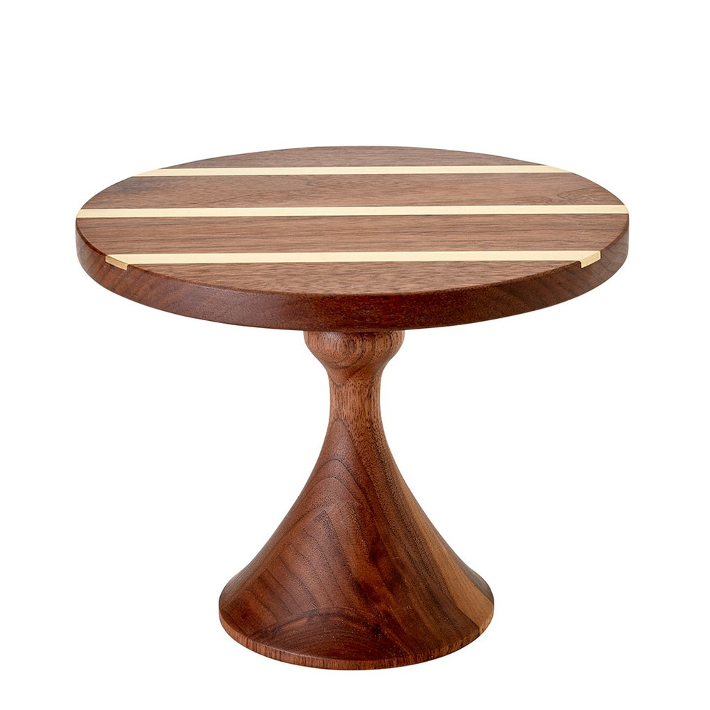 Waterworks Canyon Drive Small Wood Pedestal in Black Walnut