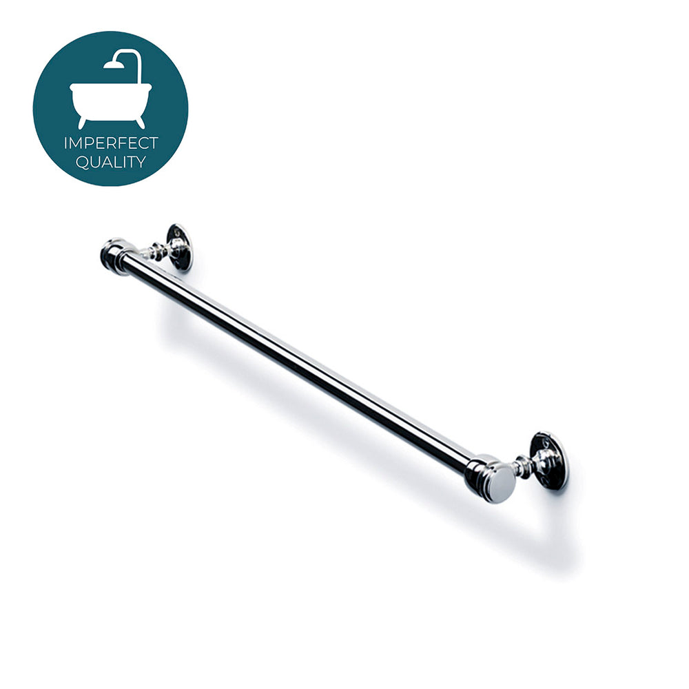 "Waterworks Crystal 18"" Single Metal Towel Bar in Chrome"