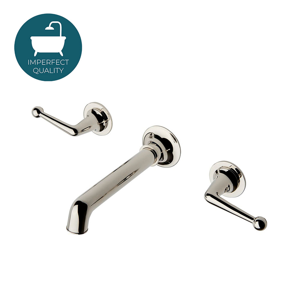 Waterworks Dash Wall Mounted Lavatory Faucet in Nickel