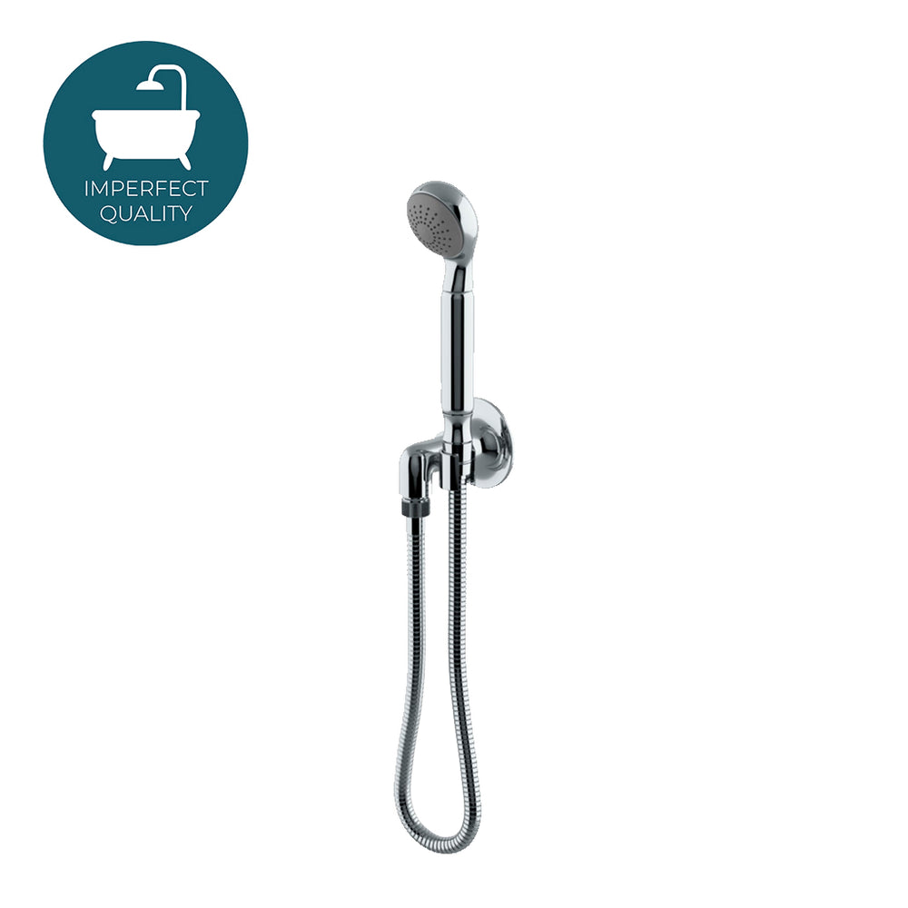 Waterworks Dash Handshower on Hook with Metal Handle in Chrome