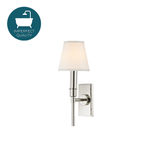 Waterworks Dewey Wall Mounted Sconce in Nickel