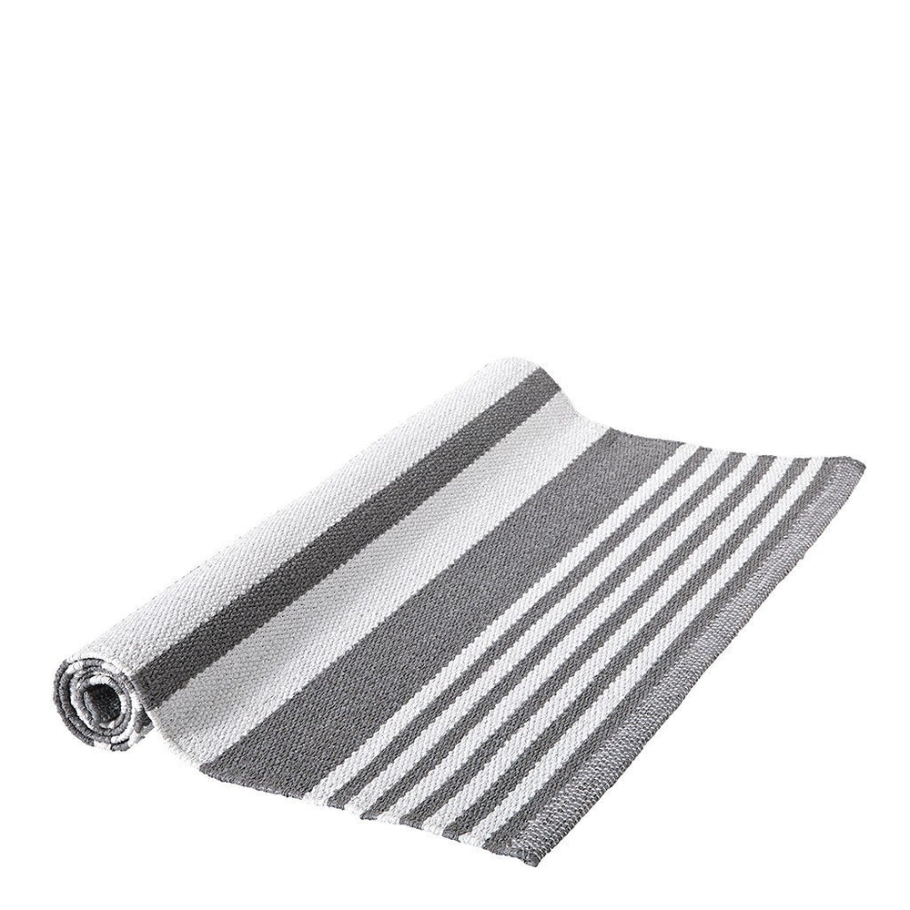 Waterworks Dobby Stripe Rug 4' x 6' in Gray / White