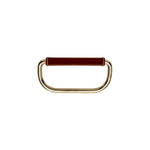 "Waterworks Fallbrook 4 1/4"" Chocolate Leather Pull in Nickel"