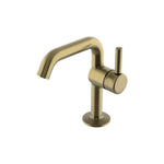 Waterworks .25 Kitchen Faucet with Short Metal Handle in Antique Brass