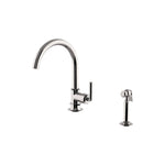 Waterworks Henry Gooseneck Kitchen Faucet and Spray in Nickel