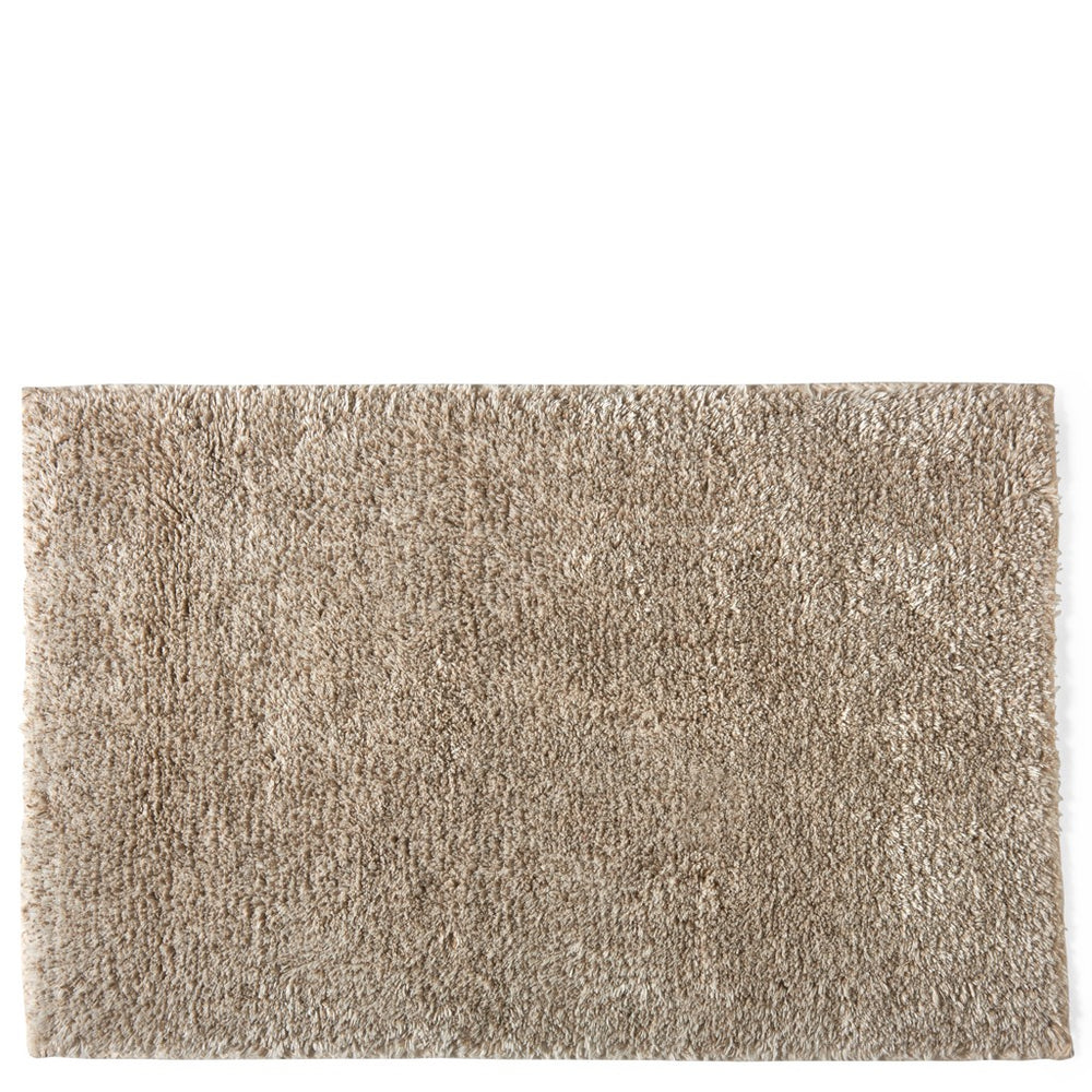 "Waterworks Fray Ivory Cotton/Linen Bath Rug 23""x 23"""
