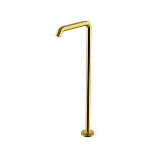 Waterworks .25 Floor Mounted Tub Spout in Matte Gold