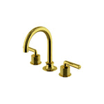 Waterworks Henry Gooseneck Lavatory Faucet with Coin Edge Cylinders in Gold