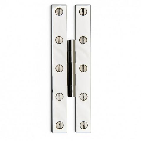 "Waterworks Harpswell 4 1/2"" Hinge in Brushed Nickel"