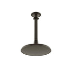 "Waterworks Henry Ceiling Mounted 8"" Shower Head, Arm and Flange in Architectural Bronze"