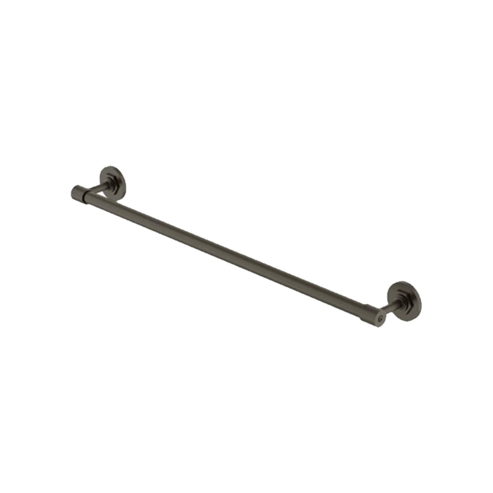 "Waterworks Henry 24"" Single Metal Towel Bar in Architectural Bronze"