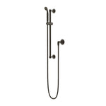 Waterworks Henry Handshower on Bar in Architectural Bronze