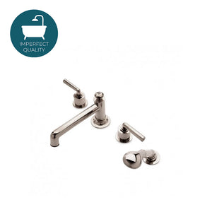 Waterworks Henry Tub Faucet with Handspray in Matte Nickel