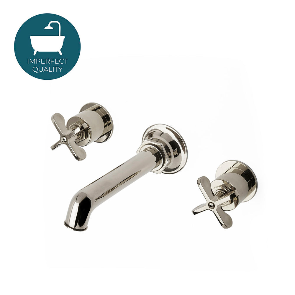 Waterworks Henry Wall Mounted Lavatory Faucet in Nickel