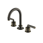 Waterworks Henry Gooseneck Lavatory Faucet with Coin Edge Cylinders in Carbon