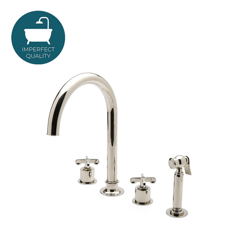 Waterworks Henry Gooseneck Kitchen Faucet and Spray in Chrome