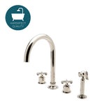 Henry Gooseneck Kitchen Faucet with Spray in Nickel