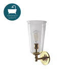 Waterworks Henry Wall Mounted Single Arm Scone in Matte Unlacquered Brass