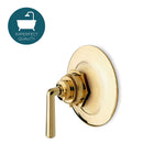 Waterworks Henry Thermostatic Control Valve Trim with Metal Lever Handle in Unlacquered Brass
