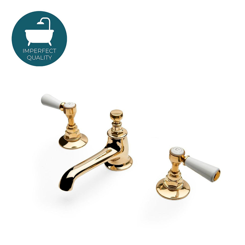 Waterworks Highgate Lavatory Faucet in Unlacquered Brass