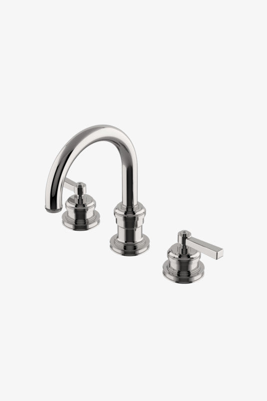 Waterworks Aero Gooseneck Lavatory Faucet with Metal Lever Handles in Chrome