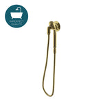 Waterworks Henry Handshower On Hook in Burnished Brass