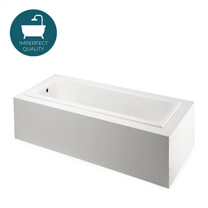 "Waterworks Cambridge 71"" x 32"" x 21"" Rectangular Cast Iron Bathtub with End Drain in White"