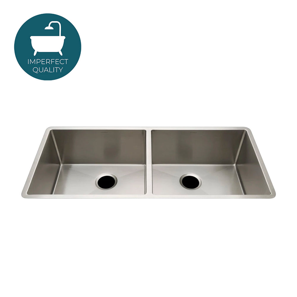 Waterworks Kerr Twin Stainless Steel Kitchen Sink